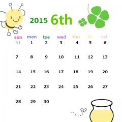 2015年6月カレンダー