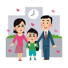小学校入学・両親と