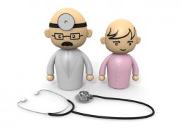 医者と看護師のイラスト