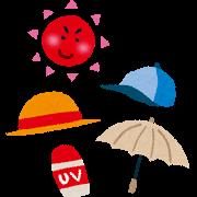 紫外線対策イラスト