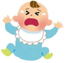 赤ちゃんが泣く