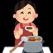 料理をする母親